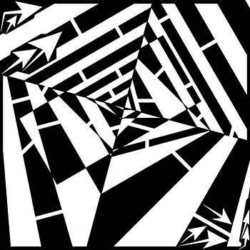 Abstract Distortion Smashed Patterns Maze  by Yonatan Frimer Maze Artist