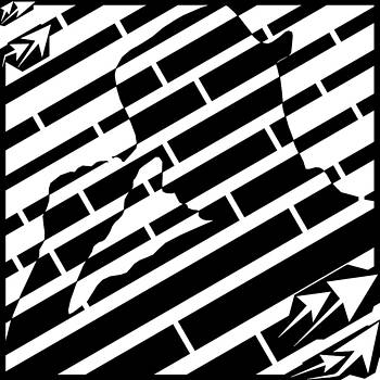 Abstract Distortion Tip Your Hat Maze  by Yonatan Frimer Maze Artist