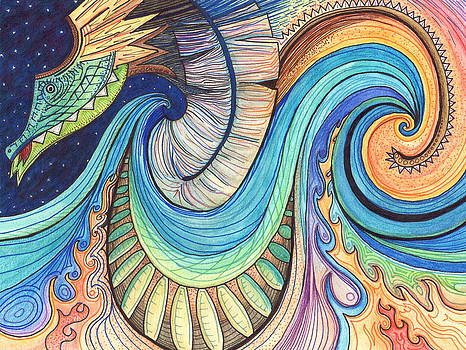 Abstract Dragon by Kate Fortin