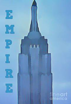 John Malone - Abstract Empire State Building Poster