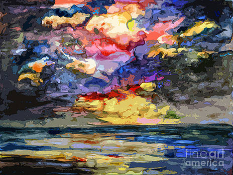 Ginette Callaway - Abstract Stormy Sunrise Seascape