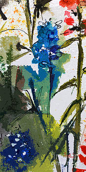 Ginette Callaway - Abstract Floral Blue Bonnets