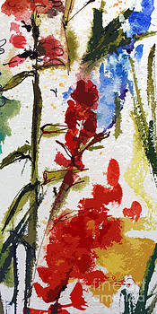 Ginette Callaway - Abstract Floral Red and Blue