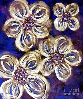 Abstract Flowers 4 by Lady Ex