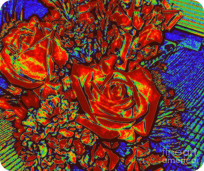 Abstract Flowers Compliments by Vivian Cook