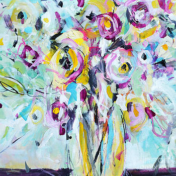 Abstract Flowers I by Tracy-Ann Marrison