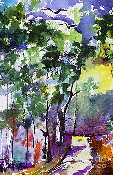 Ginette Callaway - Abstract Forest Path #1
