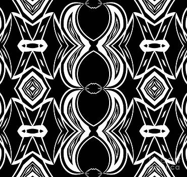 Abstract Geometric Art Black White Pattern No.324. by Drinka Mercep