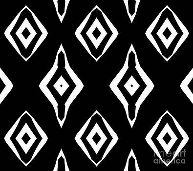 Abstract Geometric Pattern Black White Art No.316. by Drinka Mercep