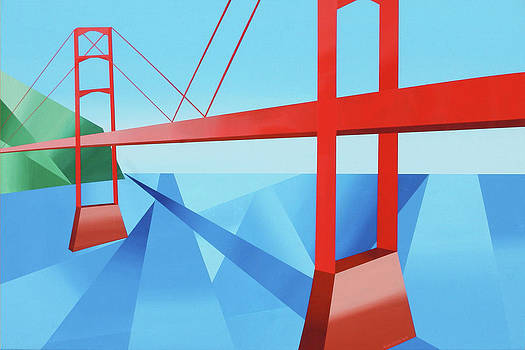 Abstract Golden Gate Bridge by Mark Webster