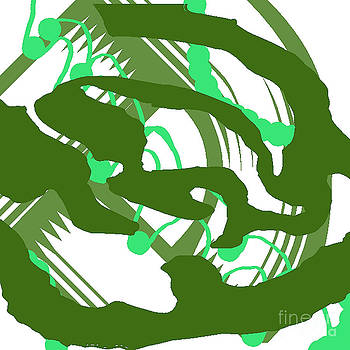 Abstract green by John England