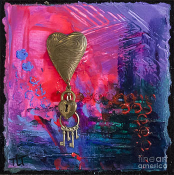 Abstract Heart 1 by Tracy L Teeter