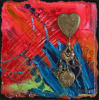 Abstract Heart 2 by Tracy L Teeter