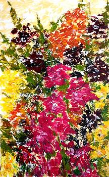 Abstract Hollyhock by Garima Srivastava