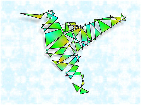 Abstract Hummingbird by Ricardo  De Almeida