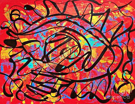 Abstract in Red and Black  by Cristiana Marinescu