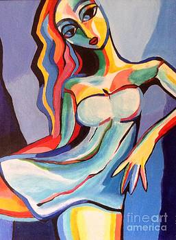 Abstract lady in dress by Marcus Hudson