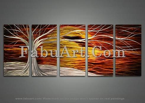 Abstract Metal Tree Painting by FabuArt