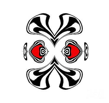 Minimalism Geometric Black White Red Art No.182. by Drinka Mercep