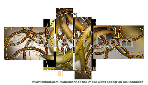 Abstract Modern Art  by FabuArt