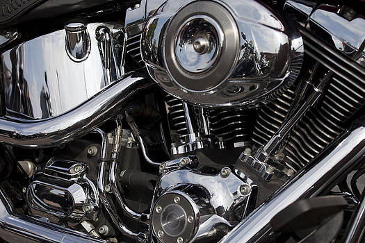 Abstract Motorcycle Engine by Gillian Dernie