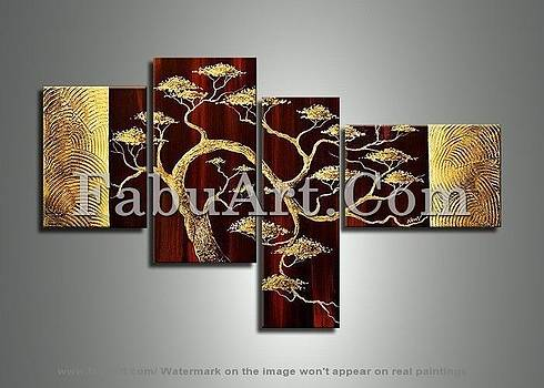 Abstract Nature Art Painting 234 - 57 2 x 34in by FabuArt