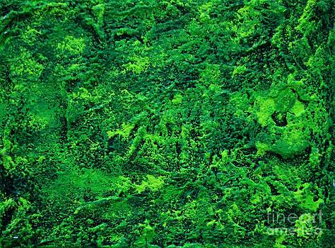 Abstract pannel Green by P Dwain Morris