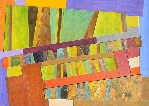 Abstract Paper Collage No 2 by Adel Nemeth