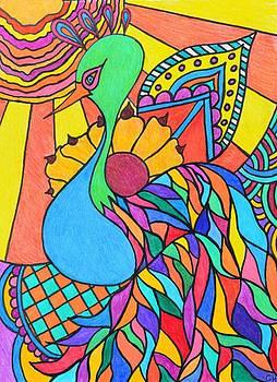 Abstract Peacock by Carol Hamby