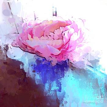 abstract Pink peony by Arelys Jimenez