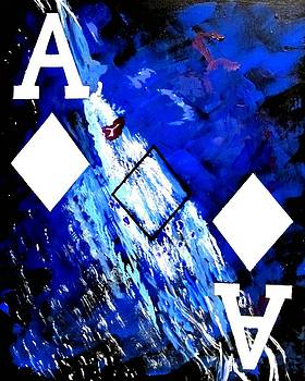 Abstract Poker Aces Diamonds by Teo Alfonso