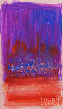 Anne Cameron Cutri - Abstract Purple and City Lights