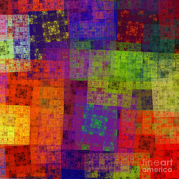 Andee Design - Abstract - Rainbow Bliss - Fractal - Square