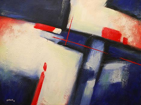 Abstract Red Blue by Glenn Pollard