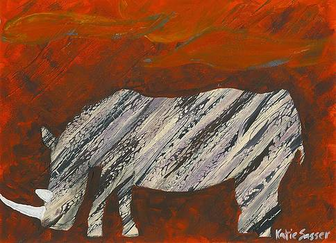 Abstract Rhino by Katie Sasser