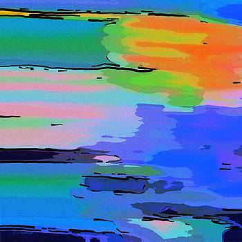 Dee Flouton - Abstract Seascape at Sunset