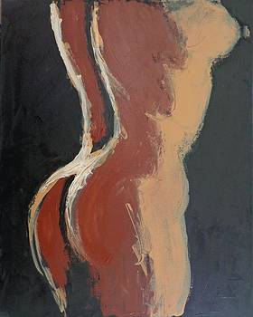 Abstract Sienna Torso - Female Nude by Carmen Tyrrell