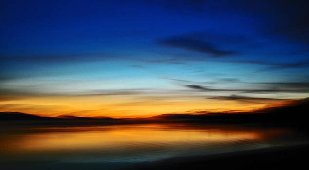 Abstract Sunset by Shelly Wickens