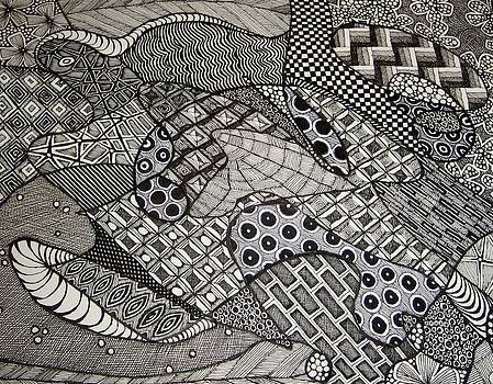 Abstract - The Sea Turtle by Amy Frank