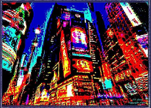 Larry Lamb - Abstract Times Square