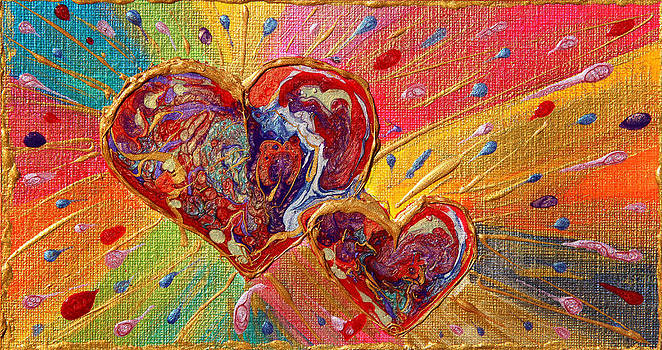 Abstract Valentines Love Hearts by Julia Apostolova