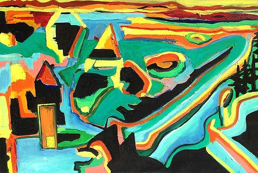 Abstract Village by Kendall Wishnick Adams