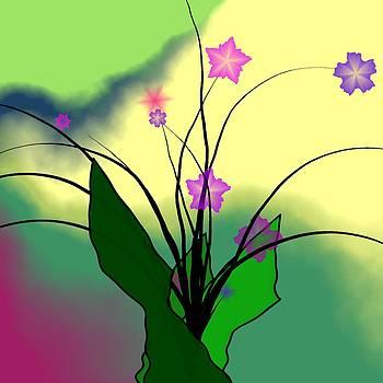 Abstract Violets by GuoJun Pan
