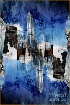 Abstract Wabash and Wacker Drive Chicago by Linda Matlow