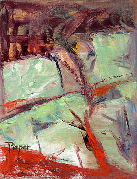 Betty Pieper - Abstract with Cadmium Red