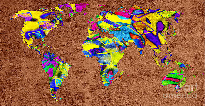 Andee Design - Abstract World Map - A Wide World Of Color - Two