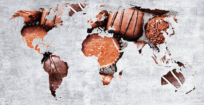 Andee Design - Abstract World Map - Chocolates - Confections - Candy Shop