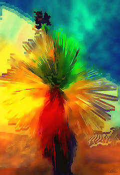 Abstract Yucca by Barbara D Richards