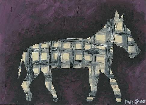 Abstract Zebra by Katie Sasser