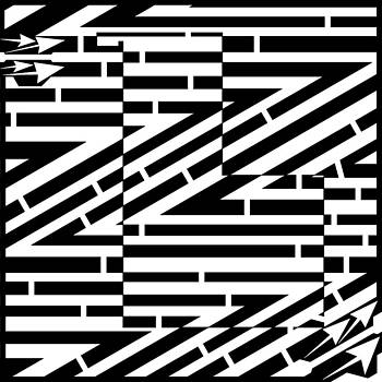 Abstract Zig Zag Formations Maze  by Yonatan Frimer Maze Artist